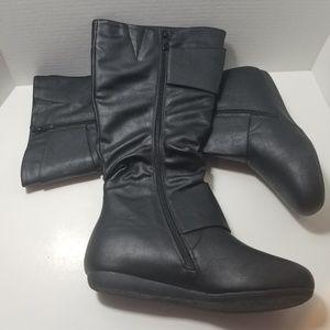 Top Moda Bank 85 women's black boots size 8 1/2